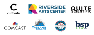 mittenfest 14 sponsor were riverside arts center, ypsilanti real estate one, go ice cream, cultivate, quite scientific, comcast, and bsp law