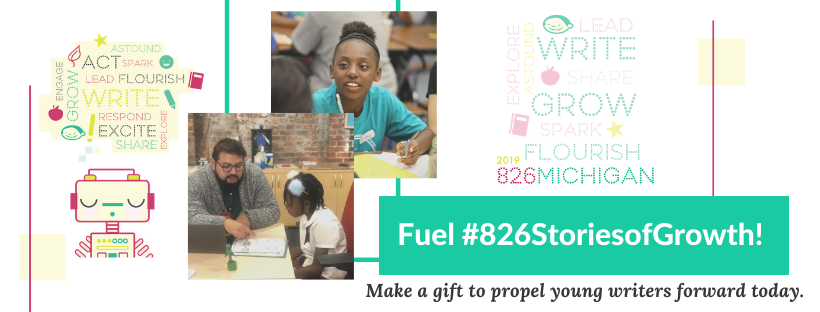 Make a year-end donation to 826michigan today!