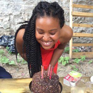 cambrey enjoying her birthday