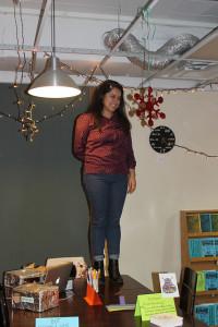 Mirella, accepting her intern awards