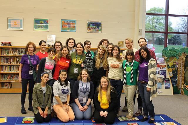 Kira with more 826michigan volunteers