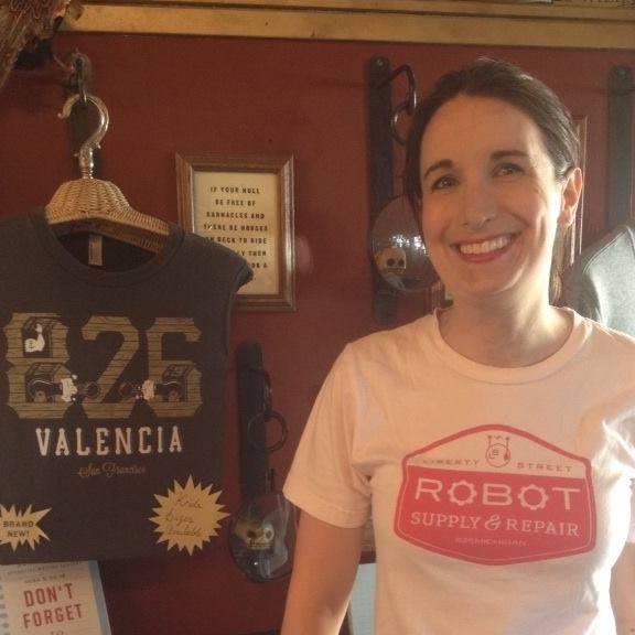 Claire Stano visiting 826 Valencia