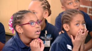 students at field trip in taking action for detroit segment from wxyz-tv