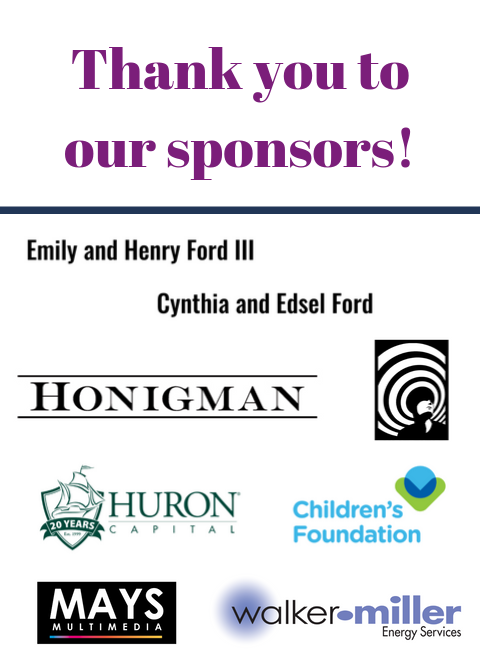 Thank you to our sponsors! Honigman, Mindfield, Mays Multimedia, Huron Capital, and Walker-Miller Energy Services