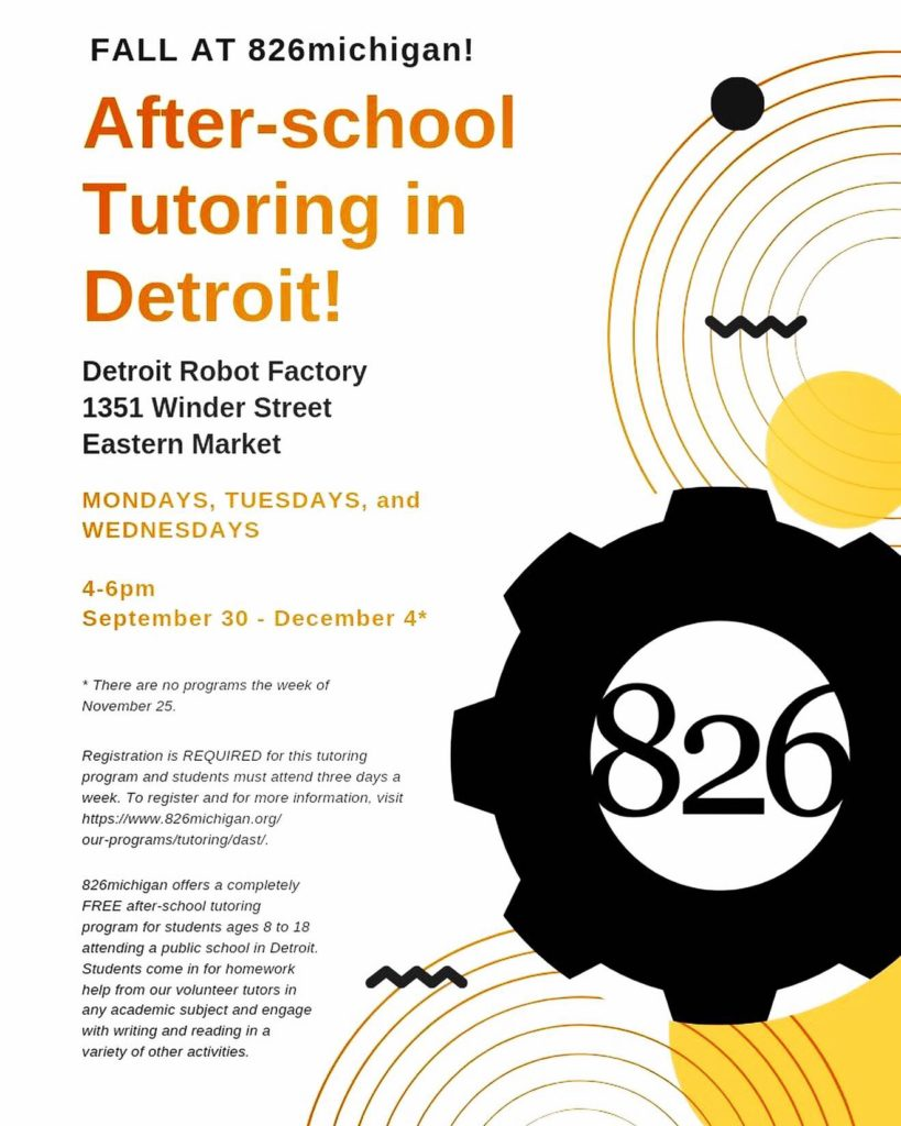 detroit tutoring flyer