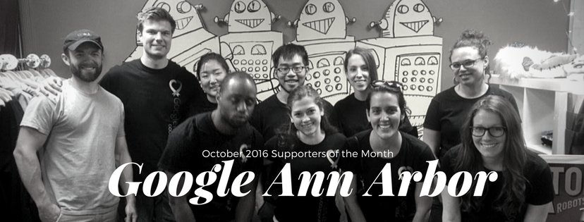 Google Ann Arbor is 826michigan's Supporter of the Month!