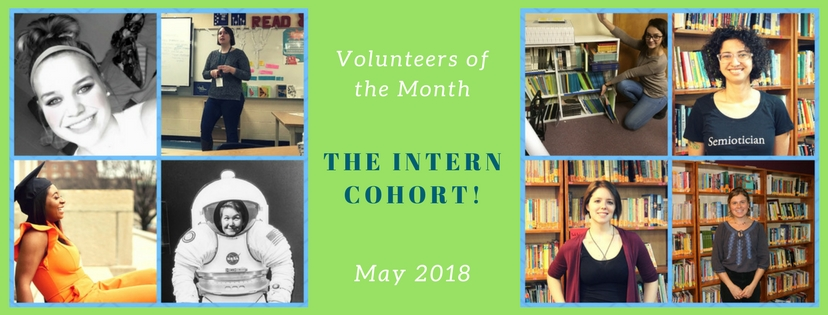 The Intern Cohort are ourVolunteers of the Month!