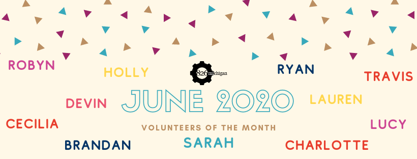 June's Volunteers of the Month! Dr. Blotch's Writing Challenges volunteers.