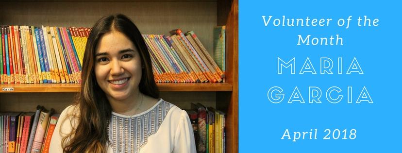 Maria Garcia isVolunteer of the Month!