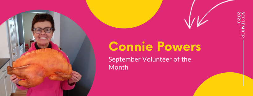 Courageous Connie, September's Volunteer of the Month!