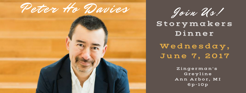 Storymakers Dinner features acclaimed author Peter Ho Davies this Wednesday, June 7, 2017!