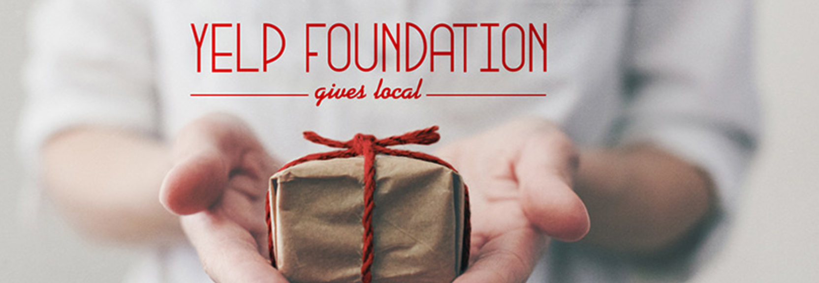 yelp foundation gives local logo