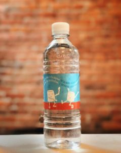 826michigan water bottle at Literati Coffee. Designed by Natalie Marion.