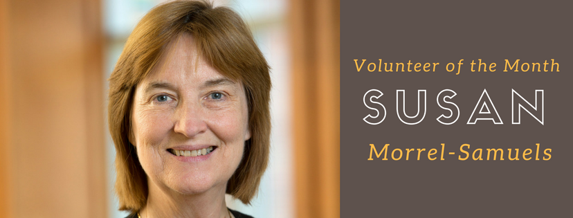 Susan Morrel-Samuels is Volunteer of the Month!