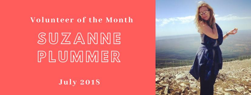 Puzanne Plummeris our Volunteerof the Month!