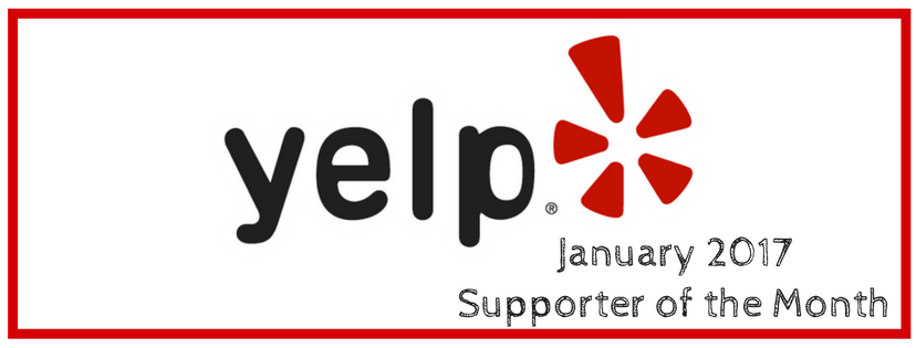 Yelp is our January Supporter of the Month!