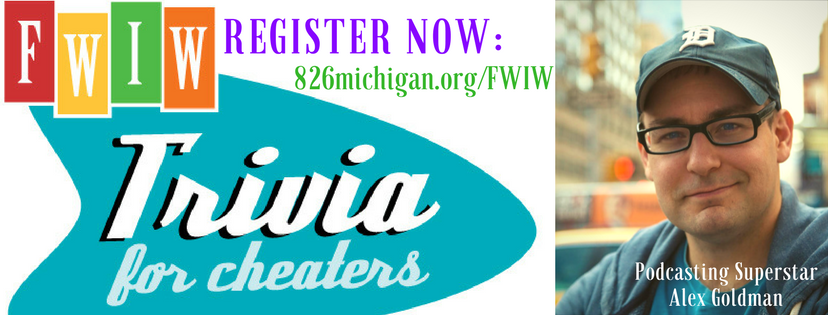 Help fund programs for 826michigan's students! Give to Trivia For Cheaters today.