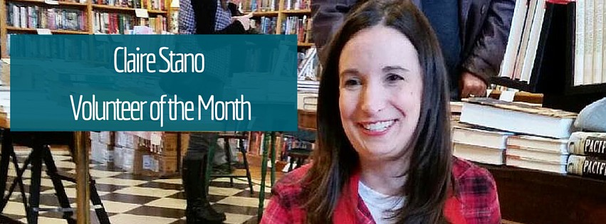 Claire Stanois Volunteer of the Month!