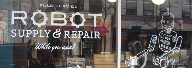 Our Liberty Street Robot Supply & Repair Store offers a full range of products and services.