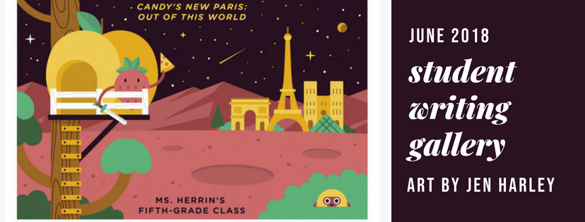 Candie's New Paris: Out of this World by Ms. Perrin's Fifth Graders (artwork by Jen Harley)