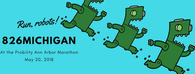 Join us this weekend to cheer on our 826michigan runners and help us reach our goal!