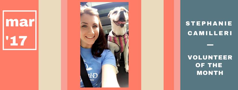 Stephanie Camilleri is Volunteer of the Month!
