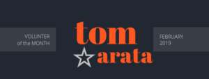 tom arata is our february volunteer of the month