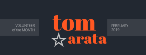 tom arata is volunteer of the month