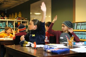 students chime in at the clue jr workshop